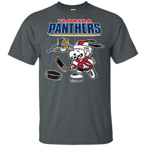 Florida Panthers Snoopy Hockey T-shirt Funny Fan Men Women-Thebouncetee.com