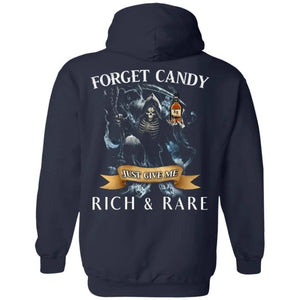 Forget Candy Just Give Me Rich And Rare Whiskey Hoodie Halloween TT08-Bounce Tee