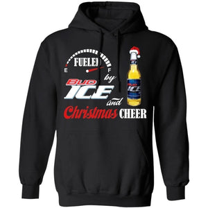 Fueled By Bud Ice Beer And Christmas Cheer Hoodie Funny Gift VA10-Bounce Tee