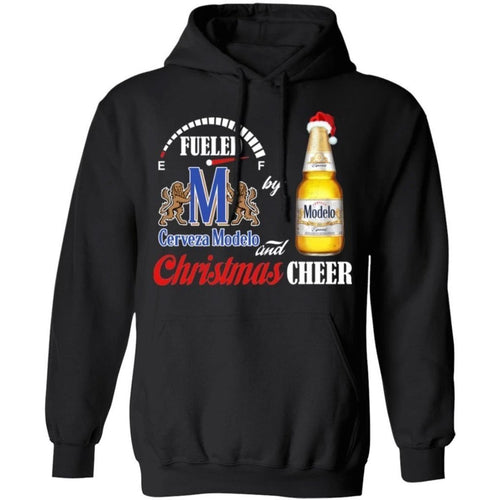Fueled By Modelo Especial Beer And Christmas Cheer Hoodie Funny Gift VA10-Bounce Tee