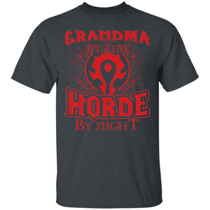 Grandma By Day Horde By Night World Of Worldcraft T-shirt MT01-Bounce Tee