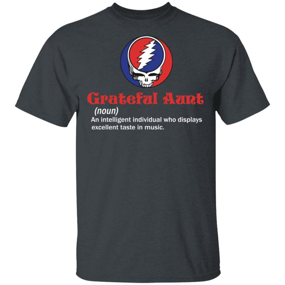 Grateful Aunt T-shirt Definition Of Grateful Dead Aunt Tee VA05-Bounce Tee