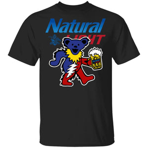 Grateful Dead Bear And Natural Light T-shirt Funny Beer Tee MN02-Bounce Tee