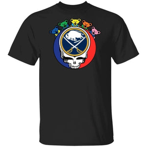Grateful Dead Mixed Buffalo Sabres Hockey Shirt Cool Gift MN09-Bounce Tee