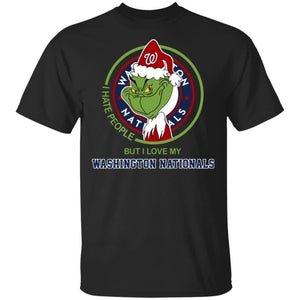 Grinch I Hate People But I Love My Nationals T-Shirt For Fans MN08-Bounce Tee