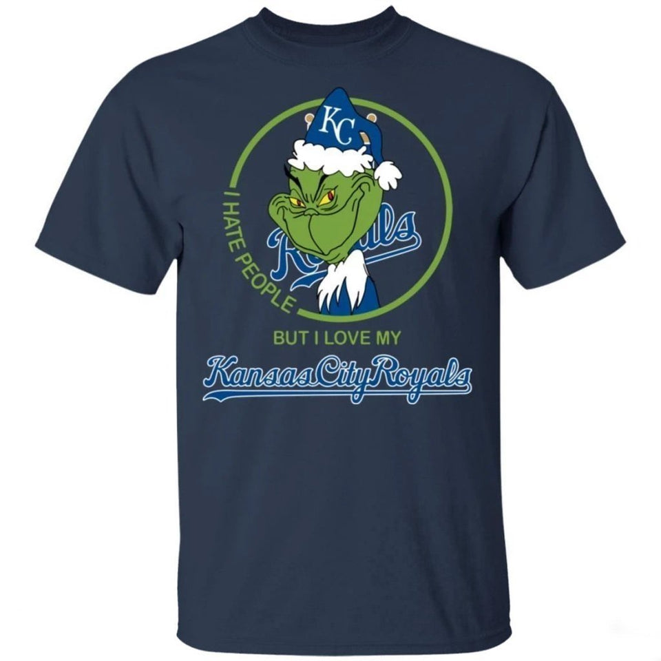 Grinch I Hate People But I Love My Royals T-Shirt For Fans MN08-Bounce Tee
