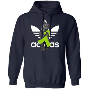 Groot Hugging Lime Green Ribbon Lymphoma Awareness Hoodie For Cancer Warrior HA09-Bounce Tee
