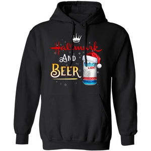 Hallmark And Natural Light Beer Christmas Hoodie Funny Christmas Gift HA10-Bounce Tee