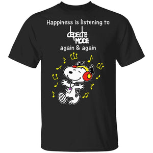 Happiness Is Listening To Depeche Mode T-shirt Snoopy Rock Tee HA03-Bounce Tee