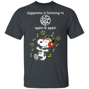 Happiness Is Listening To Electric Light Orchestra T-shirt Snoopy Rock Tee HA03-Bounce Tee