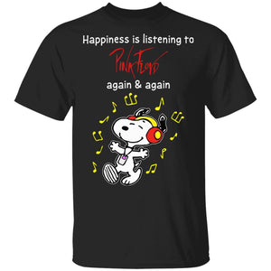Happiness Is Listening To Pink Floyd T-shirt Snoopy Rock Tee HA03-Bounce Tee