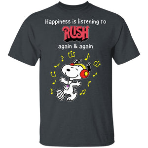 Happiness Is Listening To Rush T-shirt Snoopy Rock Tee HA03-Bounce Tee