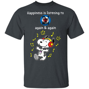 Happiness Is Listening To The Who T-shirt Snoopy Rock Tee HA03-Bounce Tee