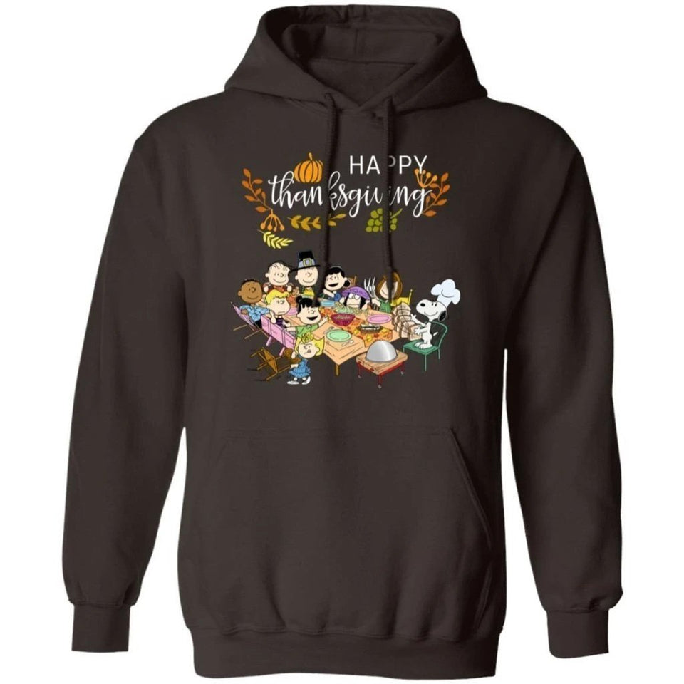 Happy Thanksgiving Snoopy And Peanuts Friends Hoodie Lovely Gift MT10-Bounce Tee