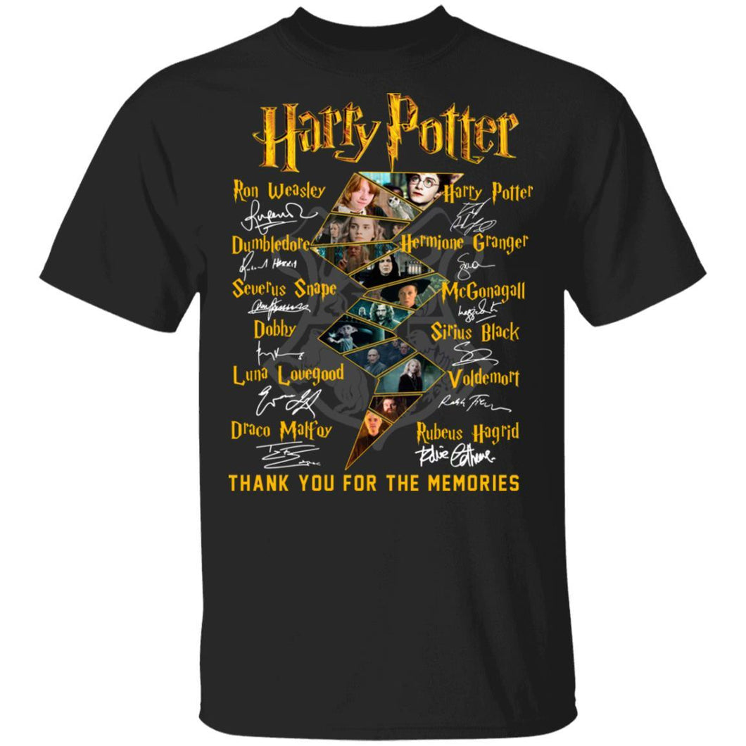 Harry Potter Characters Signatures T-shirt MT03-Bounce Tee