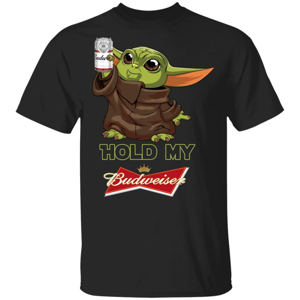 Hold My Budweiser T-shirt Baby Yoda Holding Beer Tee MT03-Bounce Tee