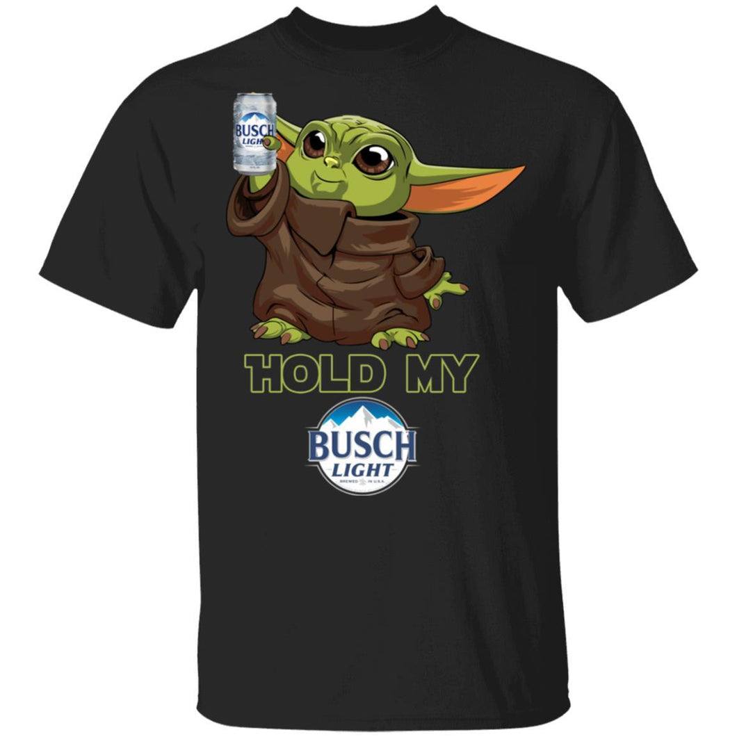 Hold My Busch Light T-shirt Baby Yoda Holding Beer Tee MT03-Bounce Tee