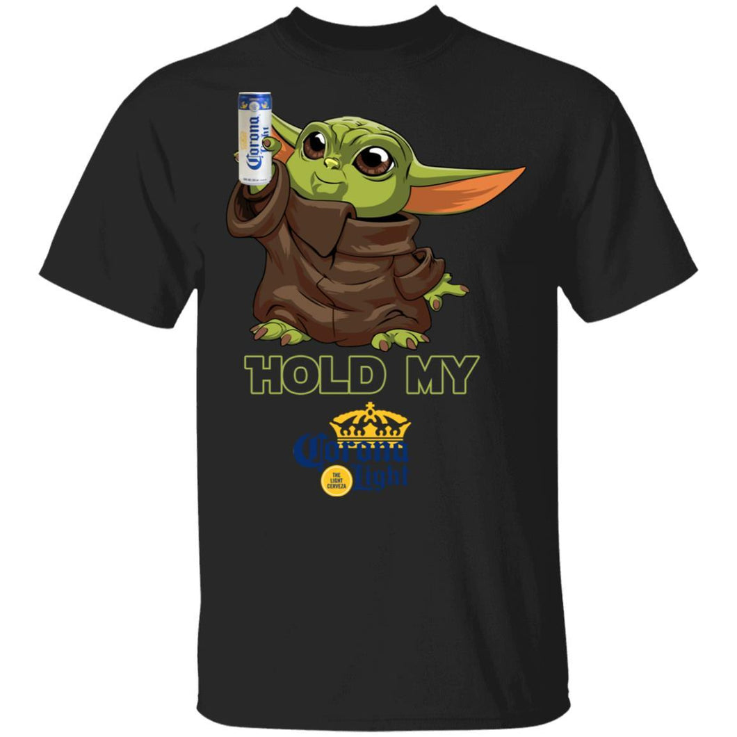 Hold My Corona Light T-shirt Baby Yoda Holding Beer Tee MT03-Bounce Tee
