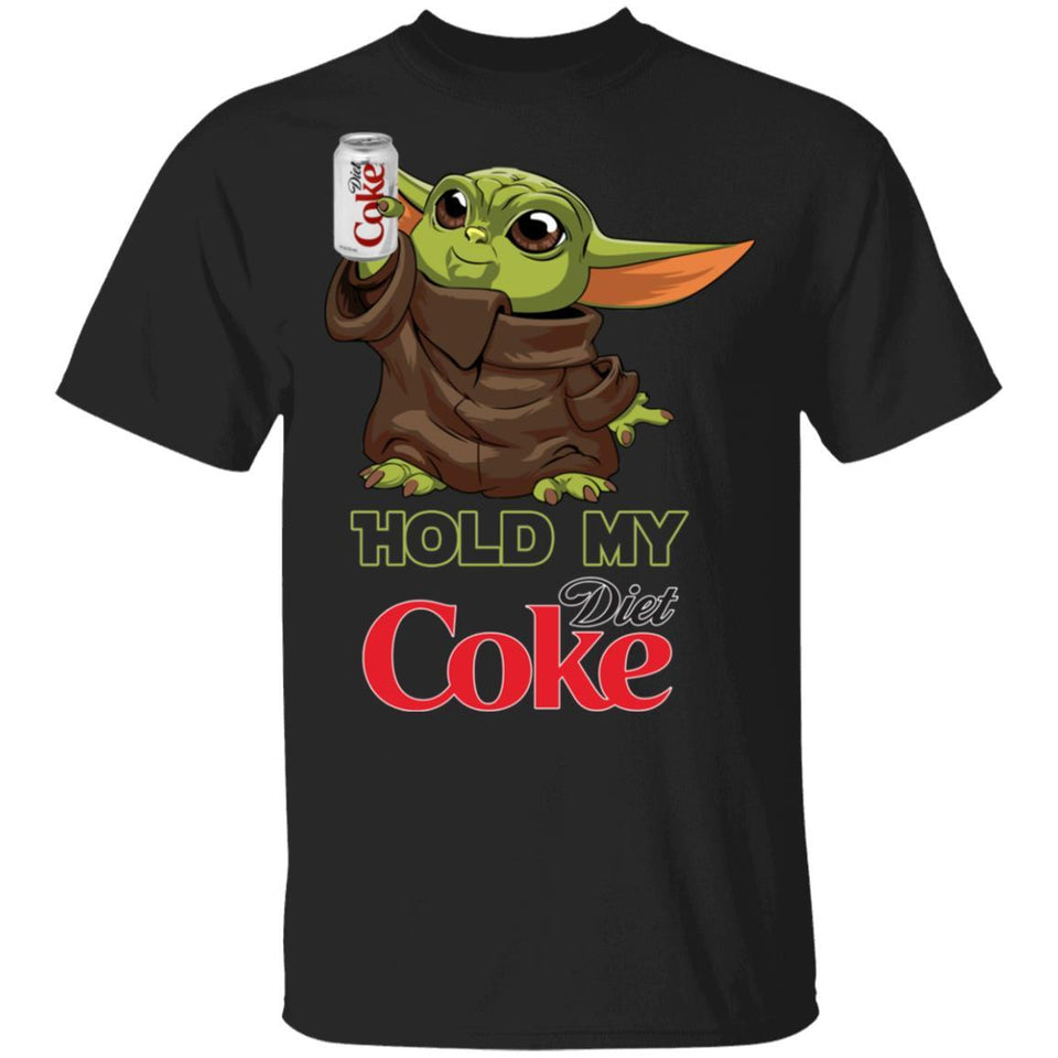 Hold My Diet Coke T-shirt Funny Baby Yoda Tee MT03-Bounce Tee