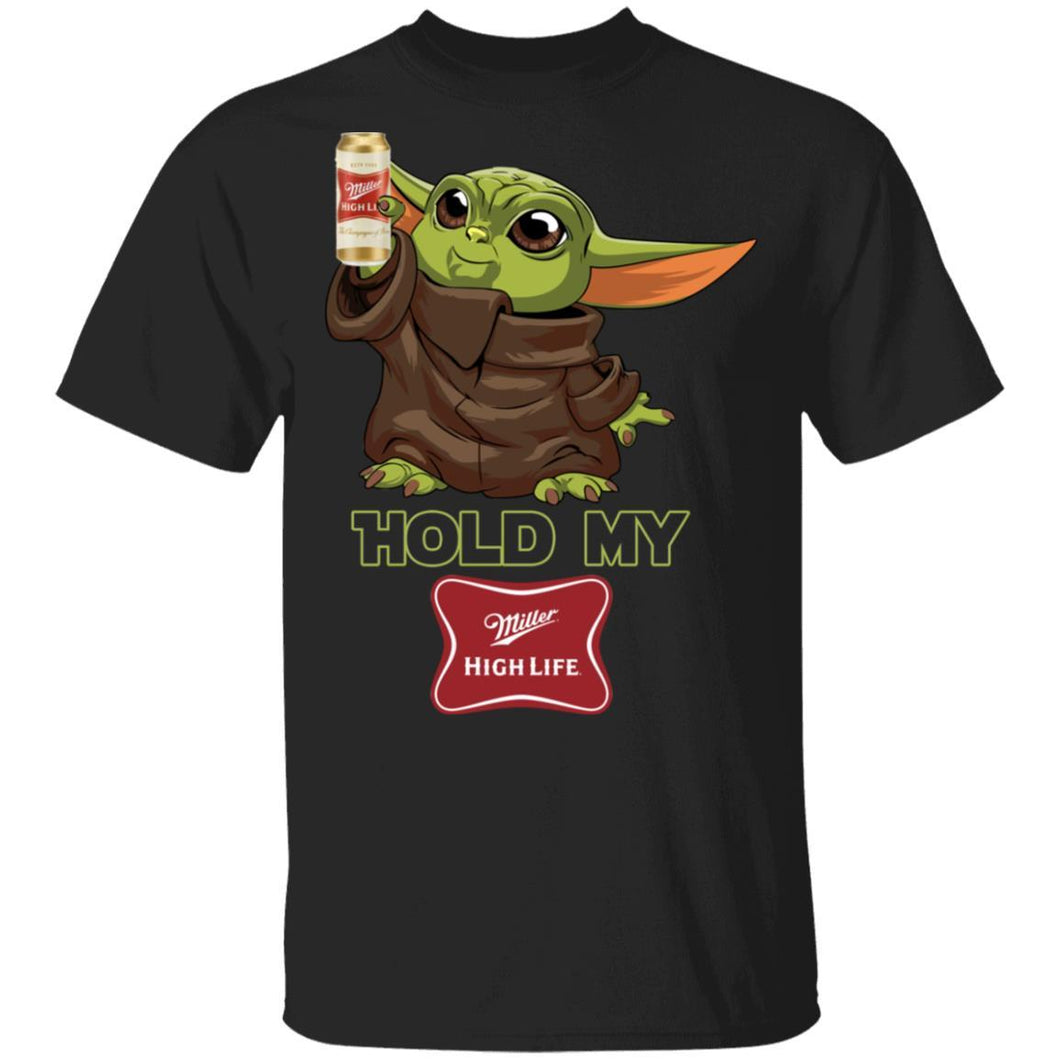 Hold My Miller High Life T-shirt Baby Yoda Holding Beer Tee MT03-Bounce Tee