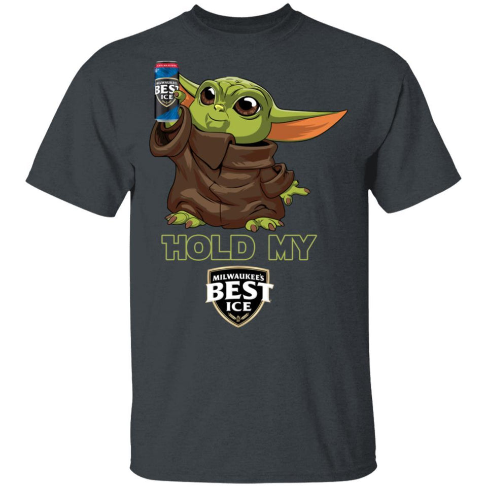 Hold My Mil's Best Ice T-shirt Baby Yoda Holding Beer Tee MT03-Bounce Tee
