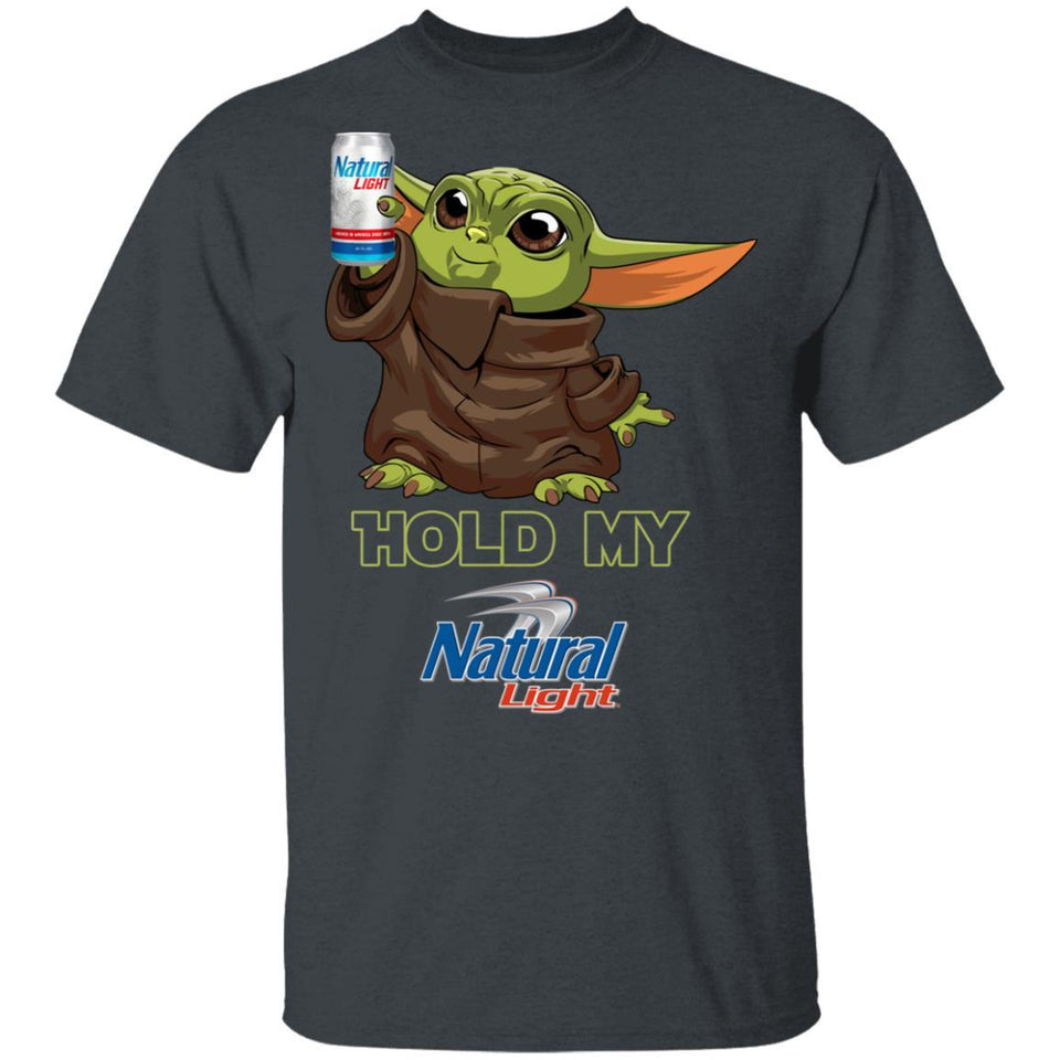 Hold My Natural Light T-shirt Baby Yoda Holding Beer Tee MT03-Bounce Tee