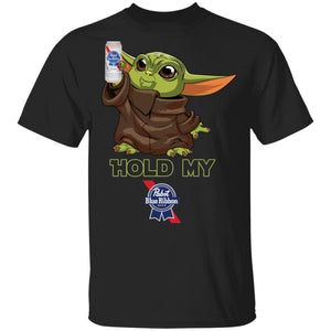 Hold My Pabst Blue Ribbon T-shirt Baby Yoda Holding Beer Tee MT03-Bounce Tee