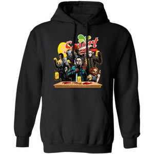 Horror Characters Drink Squirt Hoodie Funny Halloween Gift TT09-Bounce Tee