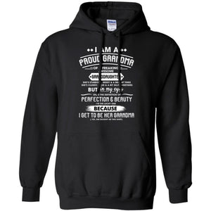 I Am A Proud Grandma Of A Freaking Awesome Granddaughter Hoodie Gift PT06-Bounce Tee