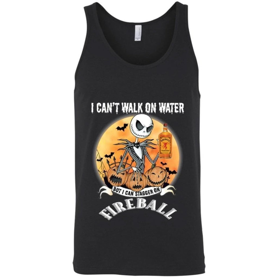 I Can't Walk On Water I Can Stagger On Fireball Jack Skellington Shirt VA09-Bounce Tee