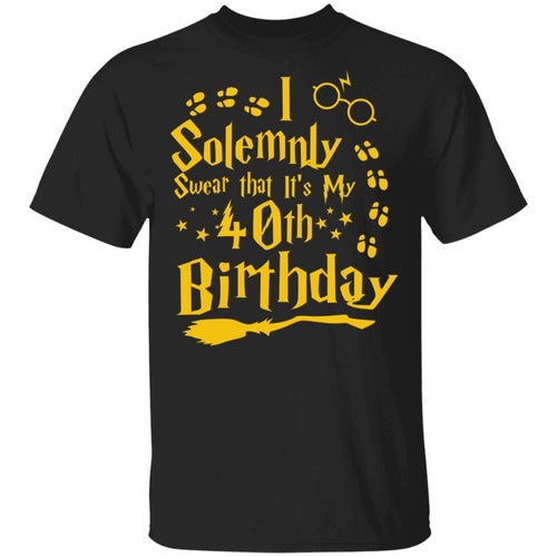 I Solemnly Swear That It's My 40th Birthday T-shirt Harry Potter Tee MT01-Bounce Tee