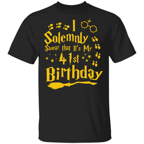 I Solemnly Swear That It's My 41st Birthday T-shirt Harry Potter Tee MT01-Bounce Tee