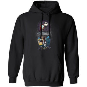 Jack & Sally Water Reflections Forever In Love Hoodie Cool Gift TT10-Bounce Tee