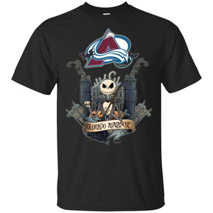 Jack Skellington Colorado Avalanche Hockey T-shirt Men Women Fan HA05-Thebouncetee.com