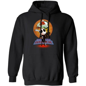 Jack Skellington Holding Hockey Stick Colorado Avalanche Hoodie For Fans HA09-Bounce Tee
