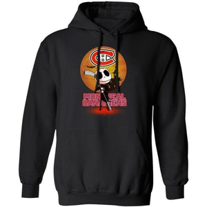 Jack Skellington Holding Hockey Stick Montreal Canadiens Hoodie For Fans HA09-Bounce Tee
