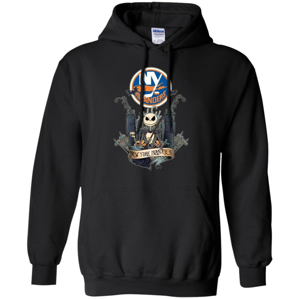 Jack Skellington New York Islanders Hockey T-shirt Men Women Fan HA05-Thebouncetee.com