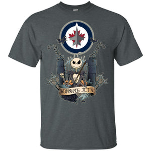 Jack Skellington Winnipeg Jets Hockey T-shirt Men Women Fan VA05-Thebouncetee.com