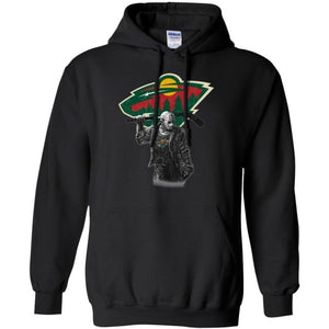 Jason Voorhees Minnesota Wild Hockey T-shirt Fan Men Women-Bounce Tee