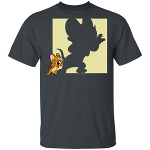 Jerry Mouse Big Shadow T-shirt Tom And Jerry Tee MT03-Bounce Tee