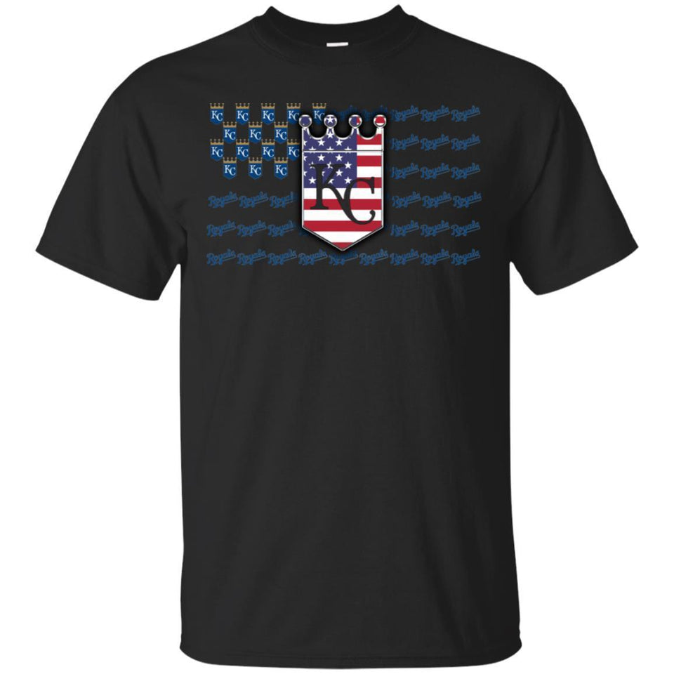 Kansas City Royals American Flag T-Shirt Men Women Fan-Thebouncetee.com