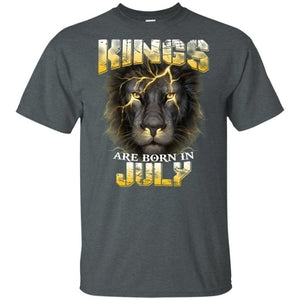 Kings Are Born In July Birthday T-Shirt Amazing Lion Face-Bounce Tee