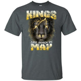 Kings Are Born In May Birthday T-Shirt Amazing Lion Face-Bounce Tee