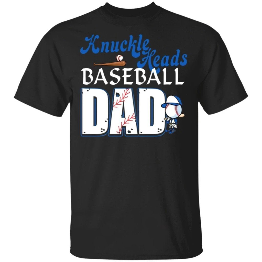 Knuckleheads Baseball Dad T-shirt Funny Gift For Dad-Bounce Tee