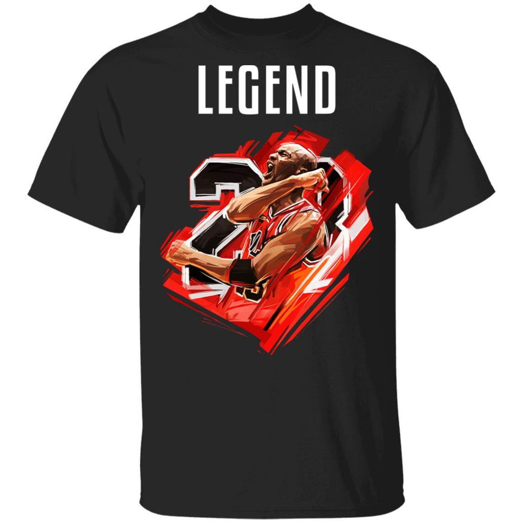 Legend Michael Jordan T-shirt MJ Number 23 Tee MT05-Bounce Tee