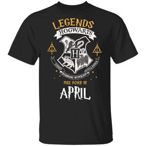 Legends Are Born In April Hogwarts T-shirt Harry Potter Birthday Tee MT01-Bounce Tee