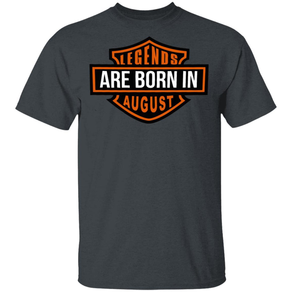 Legends Are Born In August T-shirt HD Biker Birthday Tee HA03-Bounce Tee