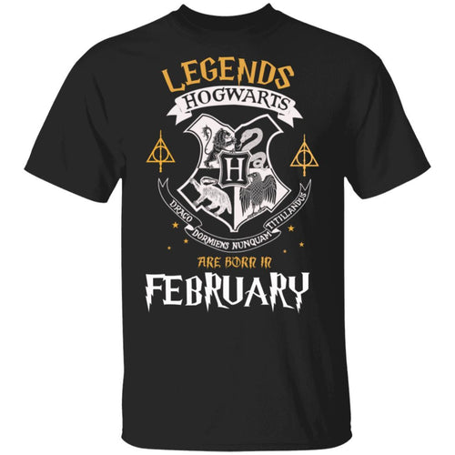 Legends Are Born In February Hogwarts T-shirt Harry Potter Birthday Tee MT01-Bounce Tee