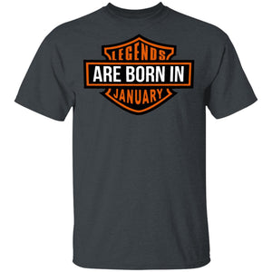 Legends Are Born In January T-shirt HD Biker Birthday Tee HA03-Bounce Tee