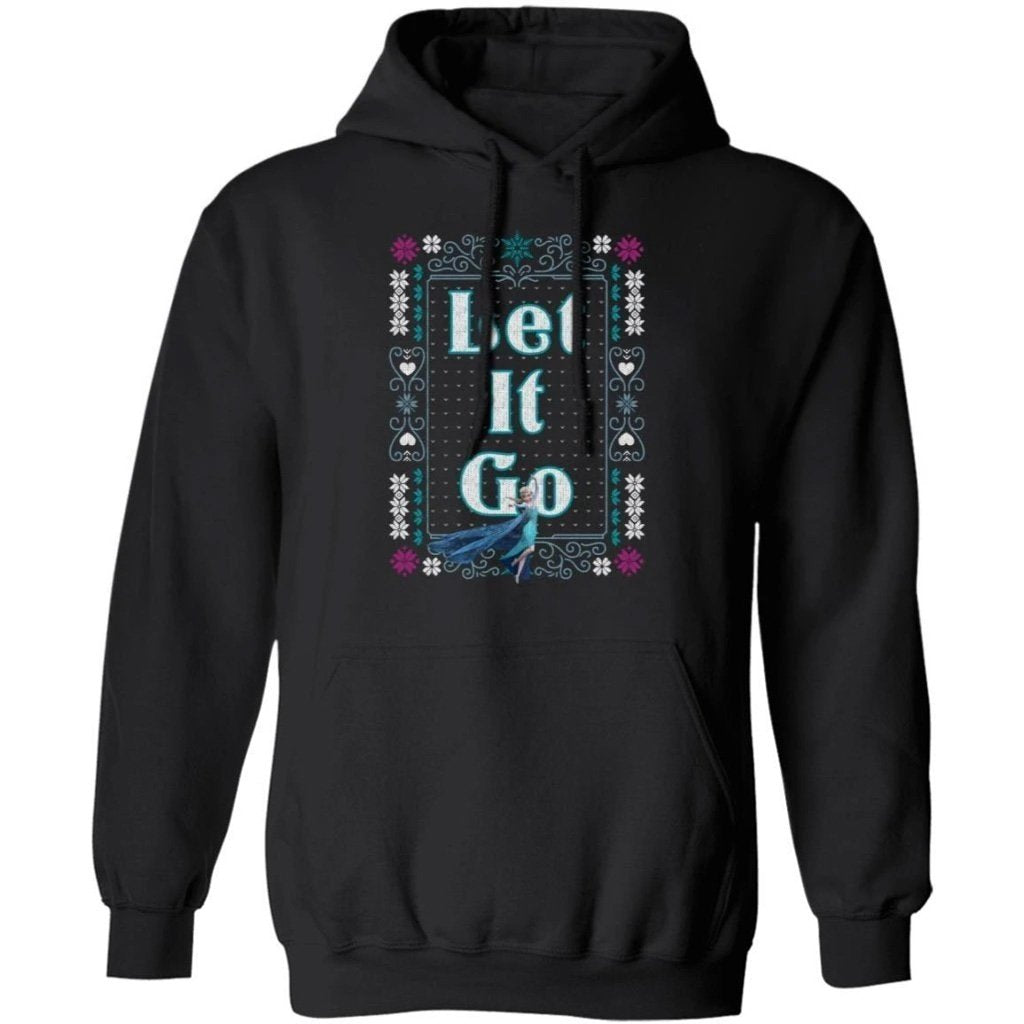 Let It Go Elsa Frozen Christmas Ugly Sweater Style Hoodie Lovely Gift MT10-Bounce Tee